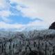 In front of a glacier edge..